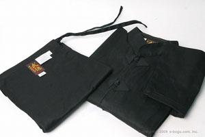 高級カンフー衣セット(黒)