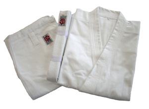 高級 綿100%空手道衣セット(白)