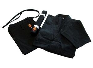 高級 綿100%空手道衣セット(黒)